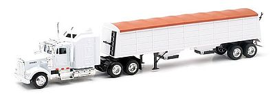 New-Ray Kenworth W900 w/Grain Hauler Trailer (Die Cast) Diecast Model Truck 1/43 Scale #15833