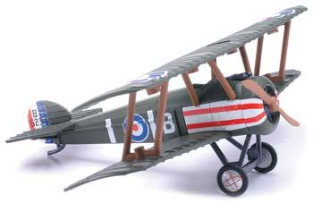 New Ray Toys Classic Bi-Plane Model Kit (12) -- Diecast Model Airplane -- #20227