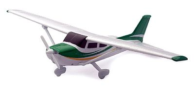 New Ray Toys Cessna 172 Skyhawk with Wheels -- Plastic Model Airplane Kit -- 1/42 Scale -- #20665