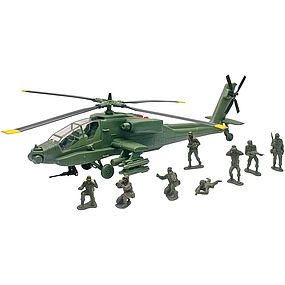 New-Ray Apache AH-64 Play Set w/Soldiers (Battery Operated