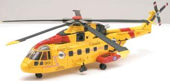 New Ray Toys Agusta EH 101 Canadian Search/Rescue -- Diecast Model Helicopter -- 1/72 scale -- #25517
