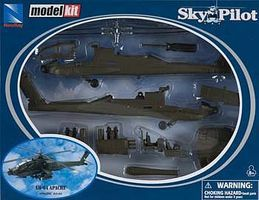 New-Ray AH-64 Apache Model Kit Plastic Model Helicopter Kit 1/55 Scale #25525