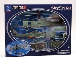 New-Ray Sikorsky SH-60 Sea Hawk Plastic Model Helicopter Kit 1/60 Scale #25585