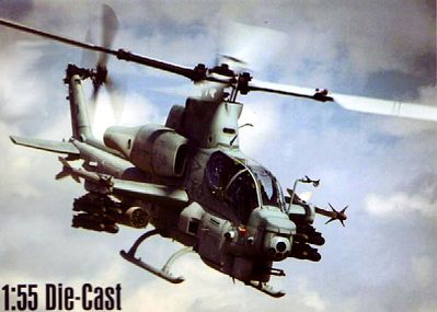 New-Ray 1/55 Bell AH1Z Cobra Helicopter (Die Cast)