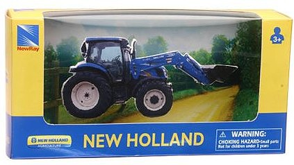 New-Ray 5 New Holland T6 Farm Front Loader (Die Cast)