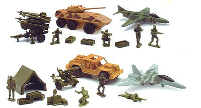 New Ray Toys 1/32 Glorious Mission Military Small Playset (Plastic)