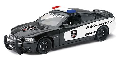 New Ray Toys Dodge Charger Pursuit Police Car (Die Cast) -- Diecast Model Ca -- 1/24 Scale -- #71903
