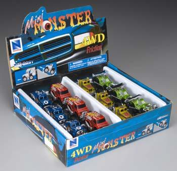 New Ray Toys D/C Friction Mini Monster Truck Asst (12)