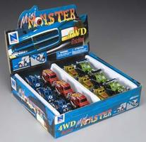 New-Ray D/C Friction Mini Monster Truck Asst (12)