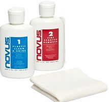 Novus Plastic Polish Set (1ea #1, #2 & Polish Cloth)