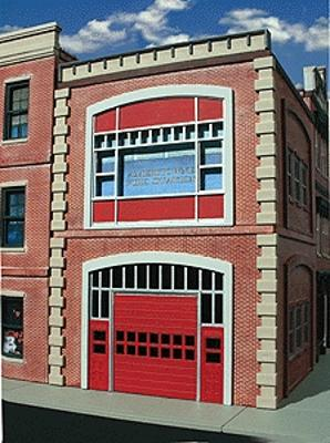 OGR Publishing Inc Ameri-Towne Fire Station -- 5-3/4 x 6-1/4 x 8'' 14.6 x 15.9 x 20.3cm - O-Scale