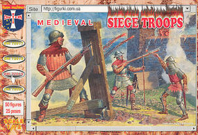 Orion Medieval Siege Troops (50) Plastic Model Military Figure 1/72 Scale #72019