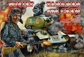 Orion Soviet Tankmen & Crew Summer Dress 1943-45 Plastic Model Military Figure 1/72 #72036