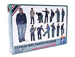Orion WWII German Panzer Soldiers (52) Plastic Model Military Figure 1/72 Scale #72045