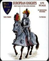 Orion European Knights 1st Half of XVI Century Plastic Model Military Figure 1/72 #dds72005