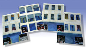 O-Gauge Varoius Window Graphics (4/cds) O Scale Model Railroad Building Accessories #29