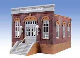 Post Office 1-Story Building Kit O Scale Model Railroad Building #302