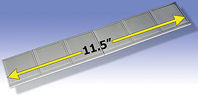 O-Gauge Railroading Sidewalks (2 5-3/4'' Sections) -- O Scale Model Railroad Building Accessory -- #34