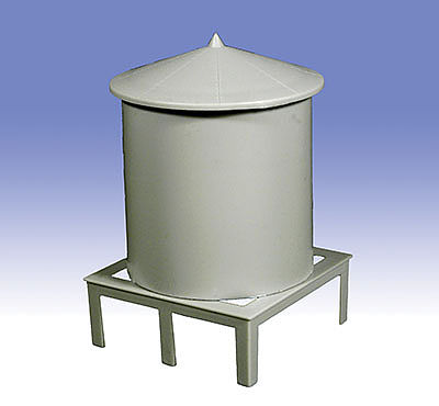 O-Gauge Railroading Roof Top Water Tank -- O Scale Model Railroad Building Accessory -- #37