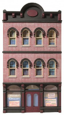 O-Gauge Railroading O Ameri-Towne- Granatos Grocery Building Front Only