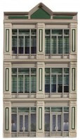 O-Gauge O Ameri-Towne- 1st National Bank Building Front Only