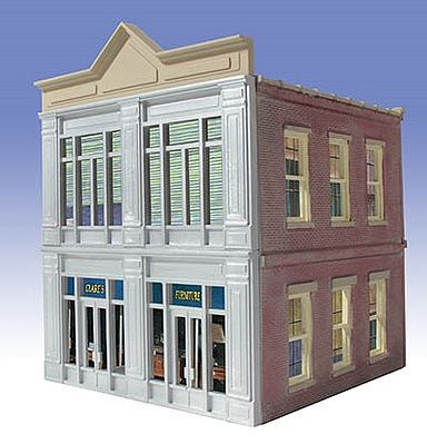 O-Gauge Clares Furniture 2-Story Building Kit O Scale Model Railroad Building #826