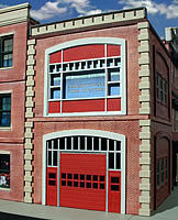 O-Gauge Fire Station 2-Story Building Kit O Scale Model Railroad Building #864