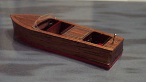 Osborn 21' Triple Cockpit Boat (wooden kit) HO Scale Model Railroad Boat Kit #1003