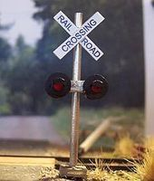 Osborn Crossing Signal (wooden kit) HO Scale Model Railroad Trackside Accessory #1004