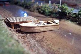 Osborn 16' Outboard Boat (wooden kit) HO Scale Model Railroad Boat Kit #1007