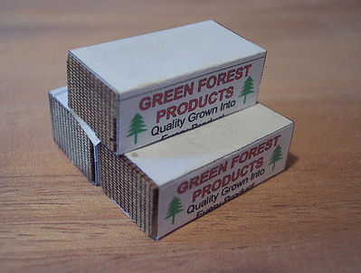 Osborn Wrapped Lumber (wooden kit) HO Scale Model Railroad Trackside Accessory #1015