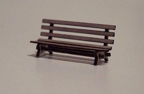 Osborn Park Bench (wooden kit) HO Scale Model Railroad Trackside Accessory #1022