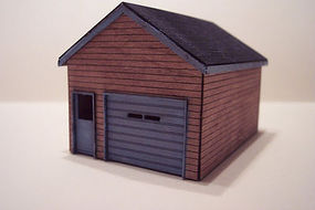 Osborn Wooden Garage (wooden kit) HO Scale Model Railroad Building #1026