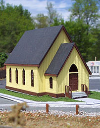 Osborn Model Kits Church -- HO Scale Model Railroad Building Kit -- #1030
