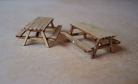 Osborn Picnic Table (wooden kit) HO Scale Model Railroad Building Accessory #1034