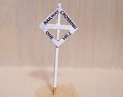 Osborn Railway Crossing Sign HO Scale Model Railroad Trackside Accessory #1054