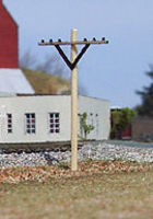 Osborn Telephone Poles (wooden kit) HO Scale Model Railroad Trackside Accessory #1068