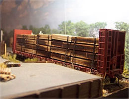 Osborn Flatcar Lumber Load (Wooden Kit) HO Scale Model Train Freight Car Load #1070