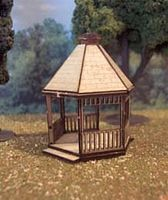 Osborn Gazebo (wooden kit) HO Scale Model Railroad Building Accessory #1081