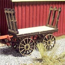 Osborn Baggage Cart 2 pack (wooden kit) HO Scale Model Railroad Vehicle #1084