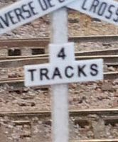Osborn Crossbuck Track Numbers (wooden kit) HO Scale Model Railroad Trackside Accessory #1085