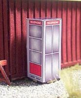 Osborn Vintage Phone Booth 4pk HO Scale Model Railroad Building Accessory #1088