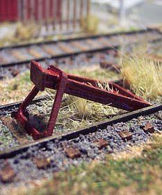 Osborn Model Kits Rail End Bumper -- HO Scale Model Railroad Trackside Accessory -- #1096