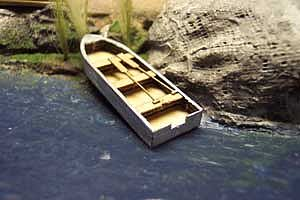 Osborn 16 Rowboat (2) (wooden kit) N Scale Model Railroad Vehicle #3005