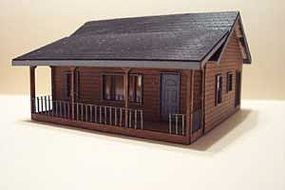 Osborn Lakeside Cottage (wooden kit) N Scale Model Railroad Building Kit #3025
