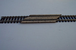 Osborn Model Kits 45 Degree Crossing Boards -- N Scale Model Railroad Trackside Accessory -- #3036