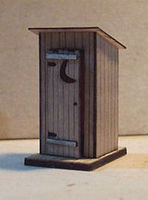 Osborn Outhouse (wooden kit) N Scale Model Railroad Trackside Accessory #3042