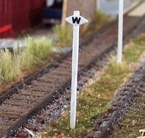 Osborn Whistle Post CP (wooden kit) N Scale Model Railroad Trackside Accessory #3047