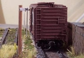 Osborn Mile Post (wooden kit) N Scale Model Railroad Trackside Accessory #3051