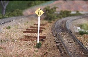 Osborn Speed Limit Signs (wooden kit) N Scale Model Railroad Trackside Accessory #3052